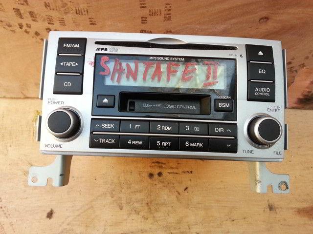 Магнитофон Hyundai Santa fe. Кузов: 2. D4EB. Дата выпуска: ...2010.