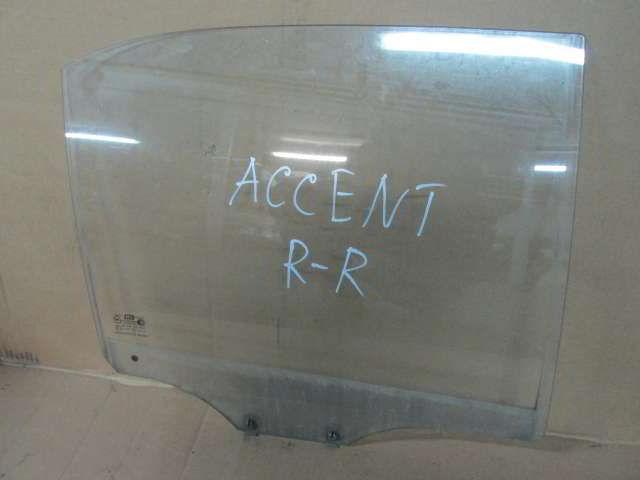 Заднее правое стекло двери Hyundai Accent.