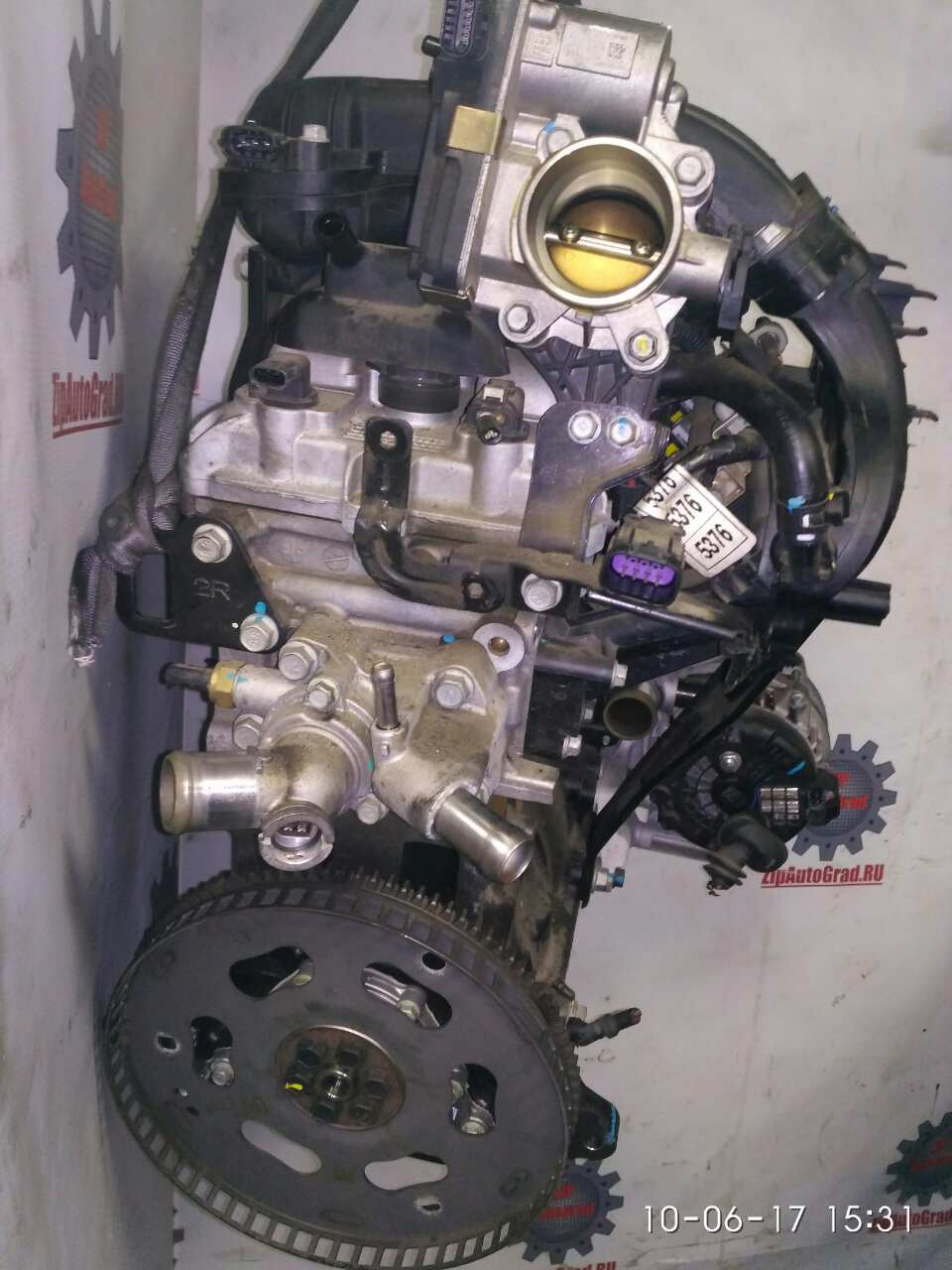 Двигатель Chevrolet Spark. Кузов: NEW. B10D2. , 1.0л.Дата выпуска: 2010-.  фото 3